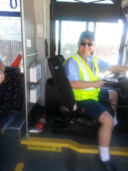 One of our friendly bus drivers